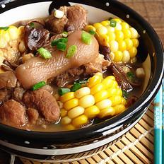 玉米黄豆焖猪蹄