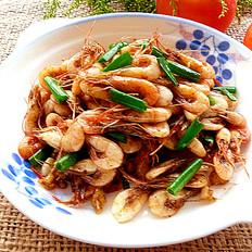 黑椒酱炒河虾