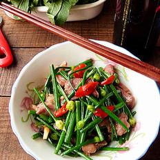 韭菜花炒猪舌