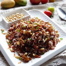 瑶柱松子炒红米饭