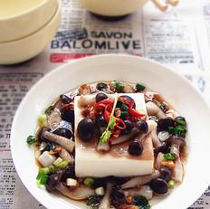 香辣鲜菇蒸豆腐