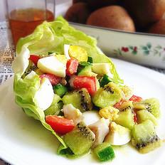 龙利鱼杂果沙拉的做法