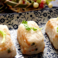 鱼茸虾米萝卜糕