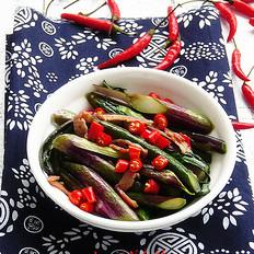 小辣椒炒红菜苔