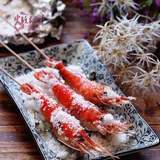 盐烤鲜大虾