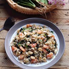 菠菜虾仁炒饭