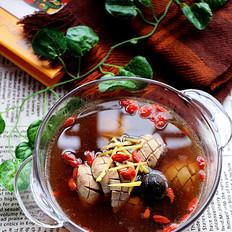 黑蒜猪腰枸杞汤