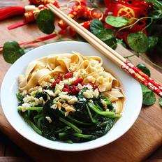 蒜香腐皮菠菜