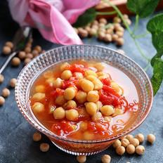 番茄煮鹰嘴豆