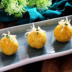 南瓜银鱼饭团
