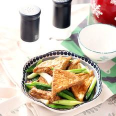 酱焖蒜苗豆腐