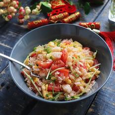 西红柿虾仁蛋炒饭