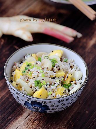 子姜蛋炒杂粮饭的做法