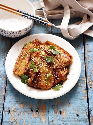 咖喱煎五花肉的做法