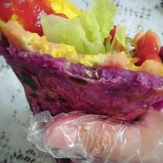 紫薯鸡蛋煎饼