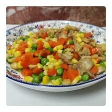 彩色豆炒鸡肉丁
