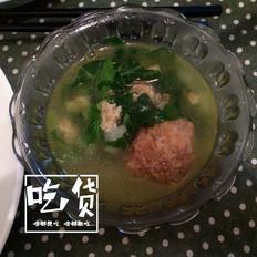 萝卜肉丸青菜汤
