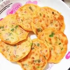 银鱼番茄鸡蛋饼