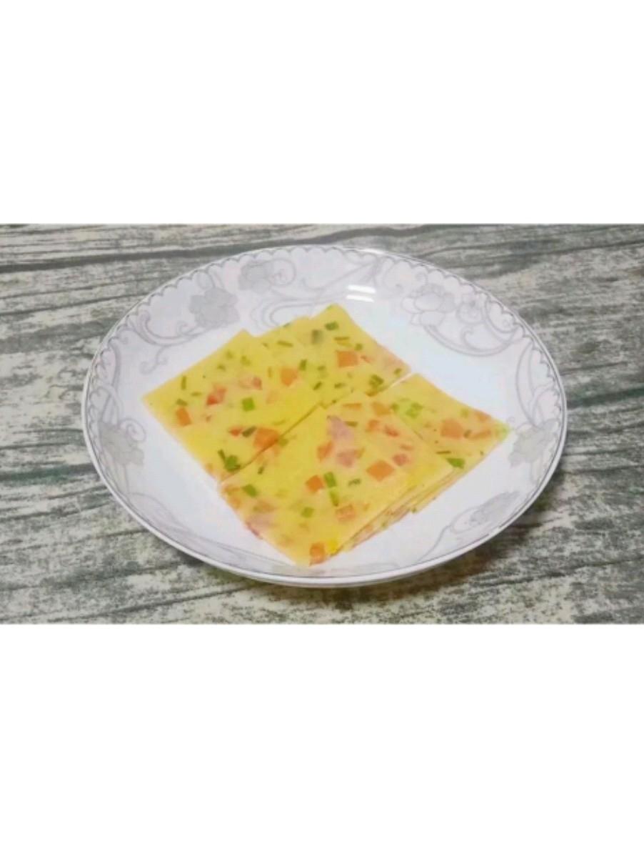 虾皮番茄鸡蛋饼