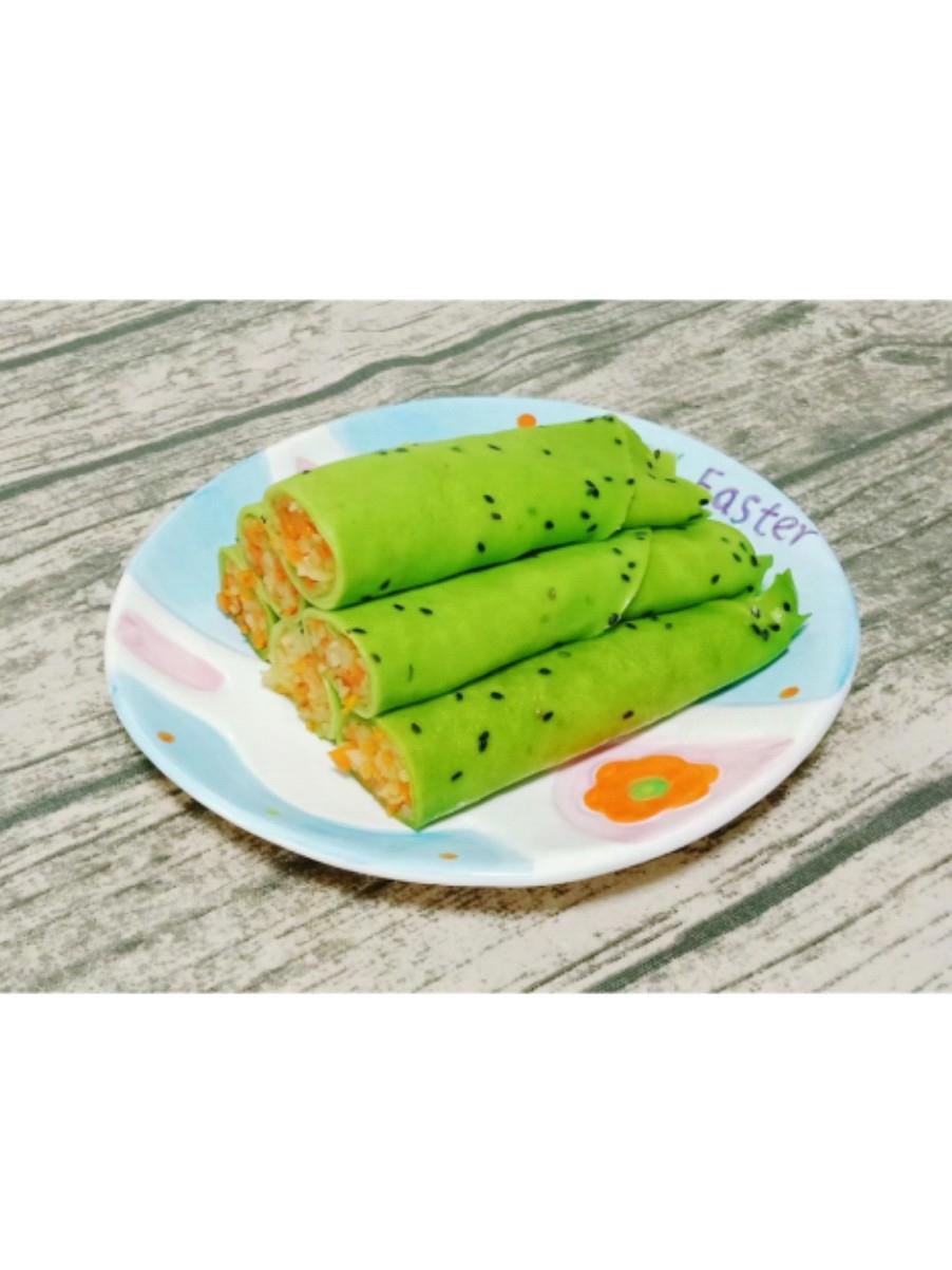 黄瓜鸡蛋卷饼