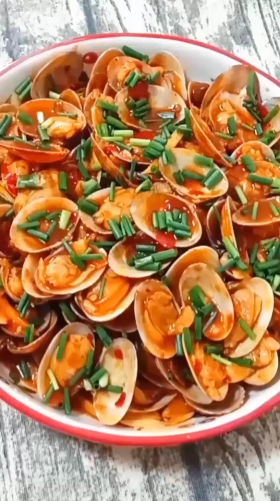 豆瓣醬炒花甲