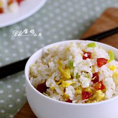 葱花香肠炒饭