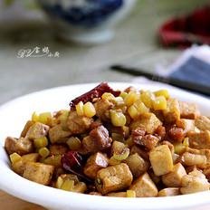 肉丁榨菜炒豆腐