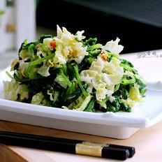 凉拌芹香白菜叶