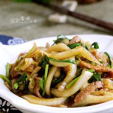 大白菜肉丝炒韭菜的做法大全