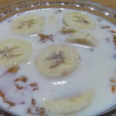 桃胶香蕉牛奶