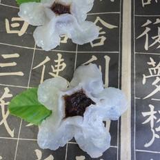 玫瑰酱梅花蒸饺