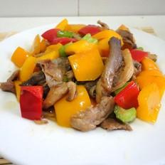 彩椒蘑菇炒肉