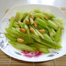 芹菜炒五香花生米
