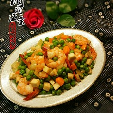 豌豆凤尾虾