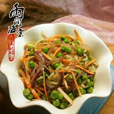 洋葱炒豌豆