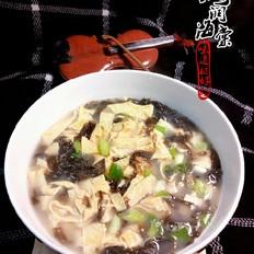豆皮紫菜汤