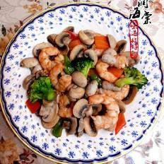口蘑竹节虾
