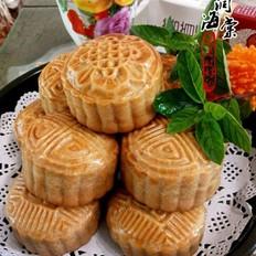 豆沙果仁馅月饼