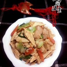 腐竹油菜炖肉