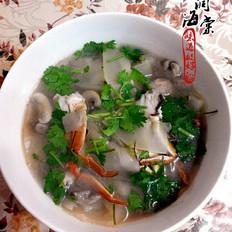 葫芦口蘑海鲜汤