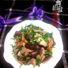芹菜叶炒香菇