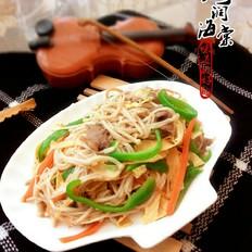 油豆皮针菇炒肉