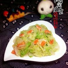 白菜炒虾黄