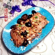 三文鱼排炖黄豆