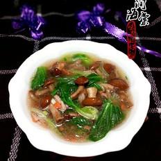 滑子菇油菜汤