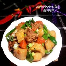 鸡腿炖土豆糯玉米