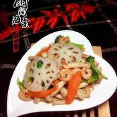 玉菇虾仁莲藕