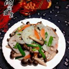 蟹味菇炒藕片
