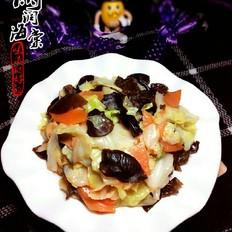圆白菜炒木耳