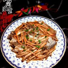 杂拌鱼炖海鲜菇